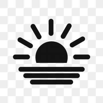 Vector Sunset Icon Png And Vector Beach Icon Icon Transparent Background