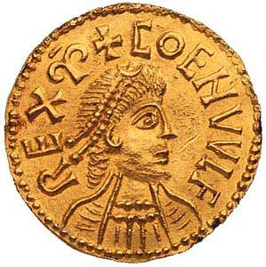 The British Museum is delighted to announce that it has acquired a rare and important Anglo-Saxon gold coin depicting Coenwulf King of Mercia (796-821).