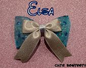 Elsa hair bow Disney Frozen Inspired LIMITED EDITION
