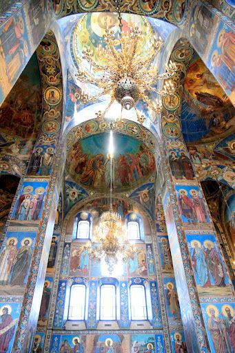 A glimpse of the mosaics that covered every wall inside the Church on Spilled Blood - St. Petersburg, Russia.