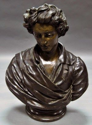 Grays Blog - 28 July 2014: Lost Bust of Shelley Acquired by Tate http://graysantiques.blogspot.co.uk/2014/07/lost-bust-of-shelley-acquired-by-tate.html