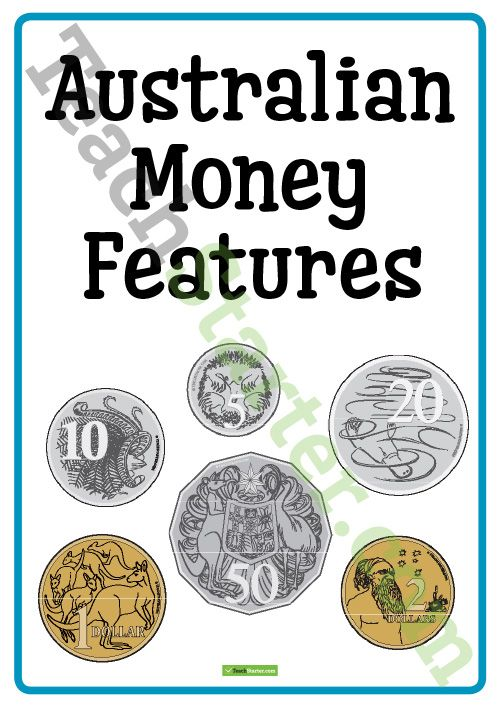 Individual Australian Coin Posters with Features Teaching Resource ...
