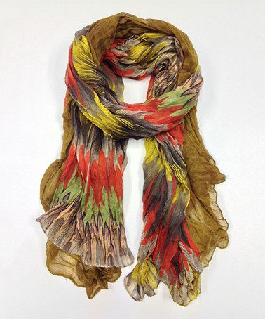 Love this Amber & Mustard Flame Scarf by East Cloud on #zulily! #zulilyfinds