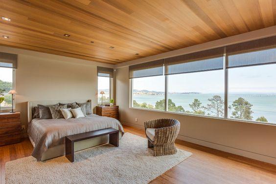 dormitorio moderno y cálido