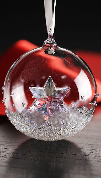 Swarovski annual edition christmas ball ornament 2014 so for Swarovski decoration crystals