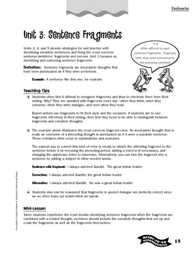 Printables Scholastic Teaching Resources Worksheets writing printables for all ages activities worksheets and parents free sentence fragment from scholastic week 1 great resource info lessons
