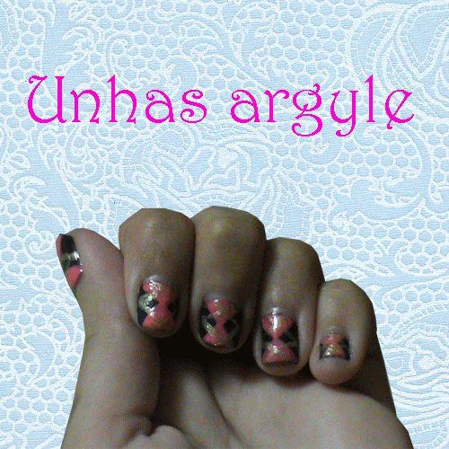 As unhas de meu mundo: Unhas argyle