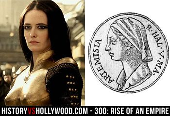 Eva Green in gold breast plated armor as Artemisia of ...