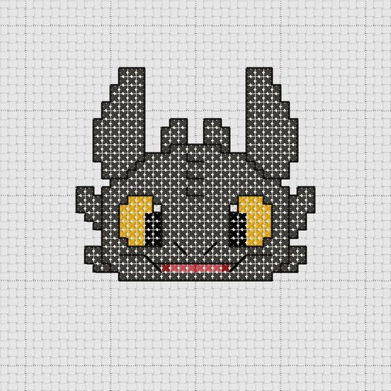 How to Train Your Dragon: Toothless pattern