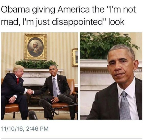 Poor Obama. You can tell that he hates Trumpty Dumpty as much as I do.: