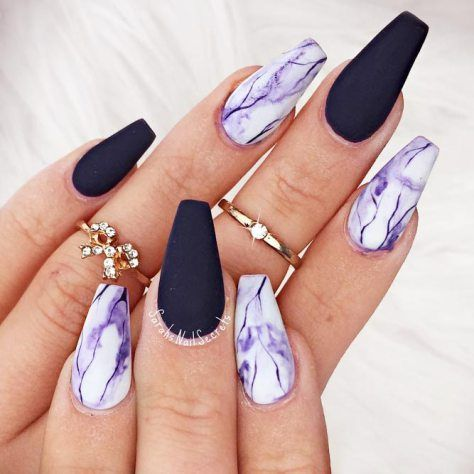 54 Stunning Acrylic Gel Coffin Nails Design For Summer Nails To Look Elegant Page 49 Of 54 Latest Fashion Trends For Woman Purple Nails Coffin Nails Designs Pretty Acrylic Nails