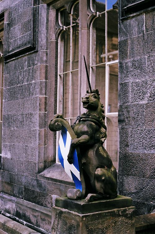 The unicorn has been a Scottish heraldic symbol since the 12th century, when it was used on the Scottish coat of arms by William I.