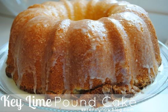 Key Lime Pound Cake! My two favorite desserts in one! Gotta try this!