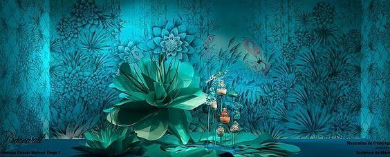 Pin By 巴巴设计有限公司 On Tendencias En Escaparatismo Visual Display Window Display Mural Wallpaper