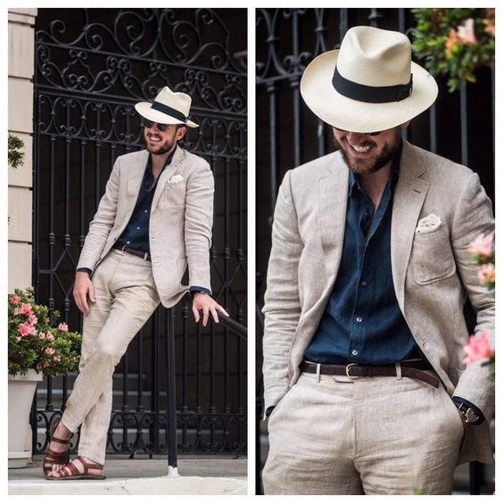 It's a linen suit and sandals kind of day. #Menswear #Tailoring #Summer #ArticlesofStyle