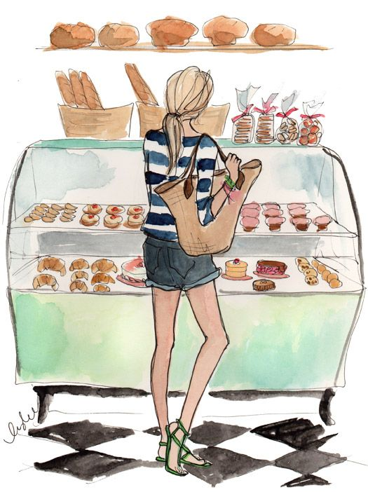 © Inslee Haynes #girl #bakery #illustration #drawing