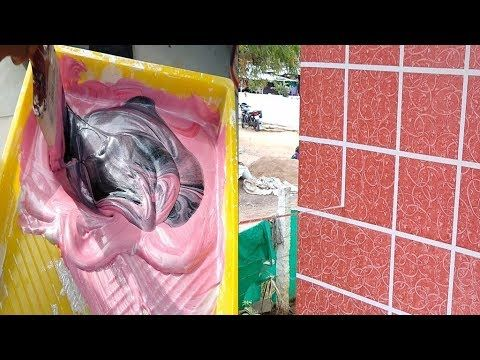 Asian Paints Tiles Type Of Wall Painting Design Exterior On Wall Youtube Asian Paints Wall Paint Designs Painting Tile