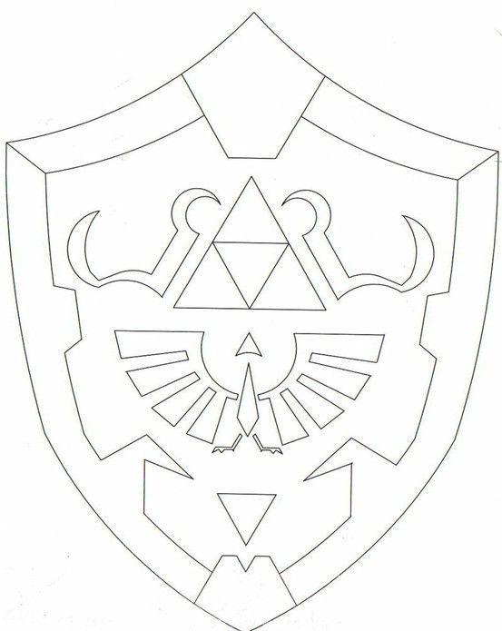 Zelda Shield Template Hylian Shield - Simple Dark Link Costume Pinterest Simple
