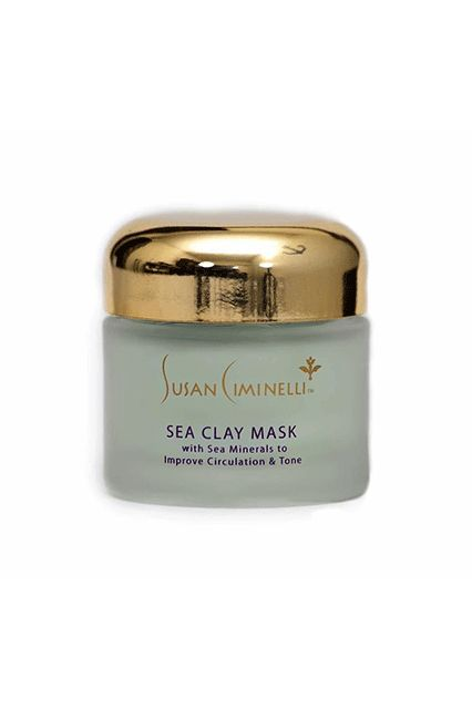 """""""Most mud masks can be super-drying, but this sea clay mask from holistic aesthetician Susan Ciminelli pulls everything out of your pores (and I mean EVERYTHING) but doesn't strip away moisture or irritate. When I smooth it on, I can actually see it absorbing into my pores and uprooting all the sludg..."""