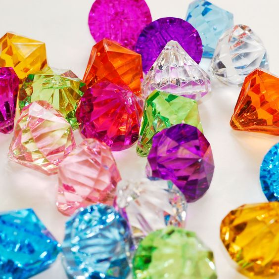 "Acrylic Diamonds with a Hole on the Tip 1"" x 1"" party decoration ideas Choose Your Colors"