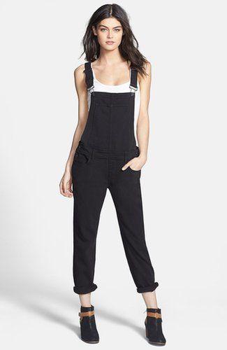 "Paige black ""Sierra"" overalls ($279)"