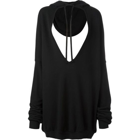 Unravel Project hoodie maxi V-neck sweatshirt (1.335 BRL) ❤ liked on Polyvore featuring tops, hoodies, sweatshirts, black, v-neck tops, hoodie sweatshirts, hooded pullover sweatshirt, v neck sweatshirt and sweatshirt hoodies