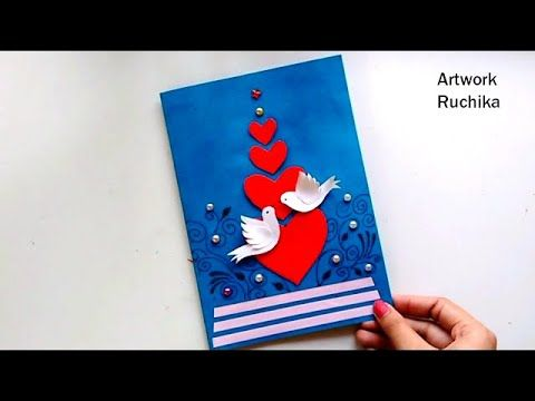 New Year Greeting Card Handmade Popup Card Love Bird Card Diy
