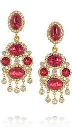 Kenneth Jay LaneGold-plated cabochon clip earrings
