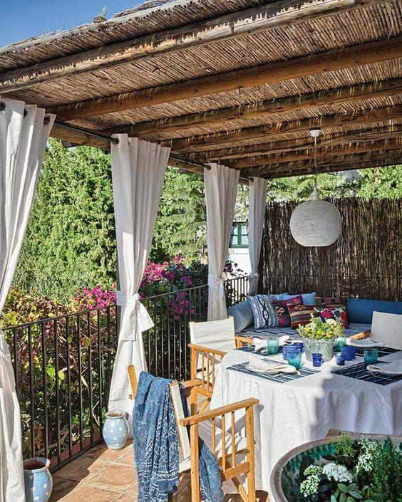 Terrazas decoradas salimos fuera pinterest plantas - Decoracion de terrazas y jardines ...