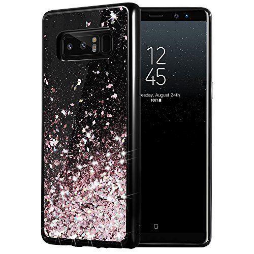 Galaxy Note 8 Case Bling Flowing Sparkle Glitter Girly Tpu Bumper Rose Gold Galaxynote8 Bling Phone Case Samsung Note Glitter Case