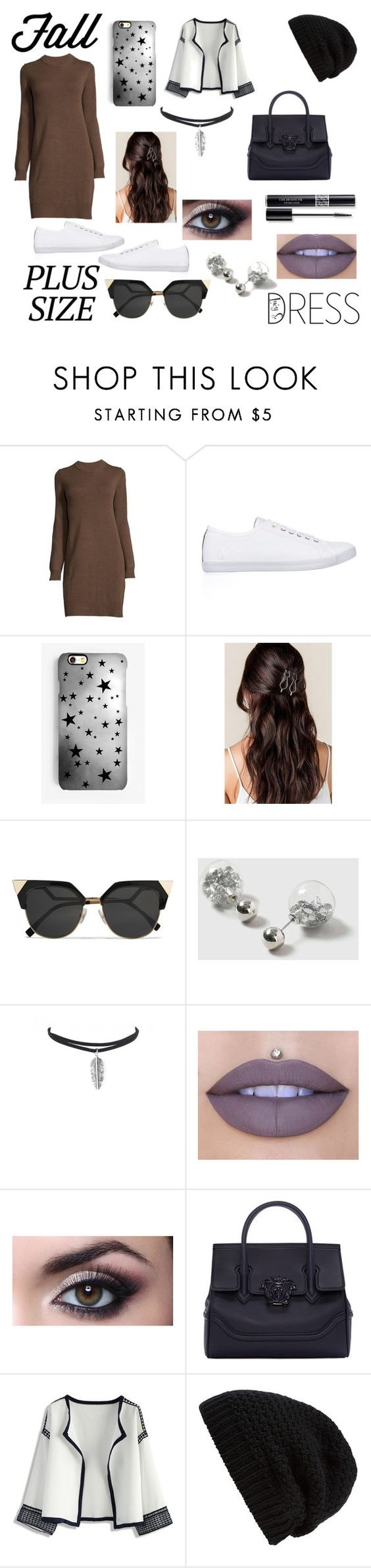 """""""Looks Like It's Fall"""" by bruhitslucy ❤ liked on Polyvore featuring Nautica, Rianna Phillips, Fendi, Dorothy Perkins, Jeffree Star, Versace, Chicwish, Rick Owens and Christian Dior"""