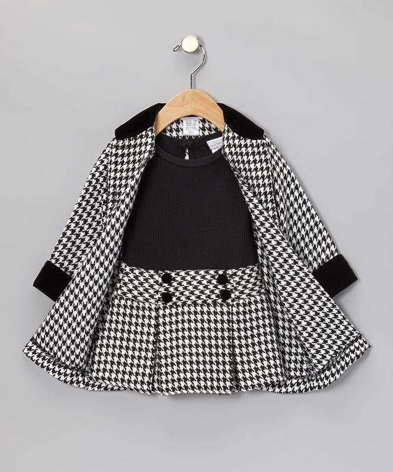 Girls Houndstooth and So cute on Pinterest