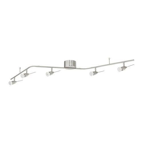 HUSINGE Ceiling track, 5 spots, nickel plated IKEA