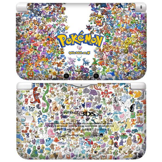 Nintendo 3ds pokemon and consoles on pinterest for Coque 3ds xl pokemon