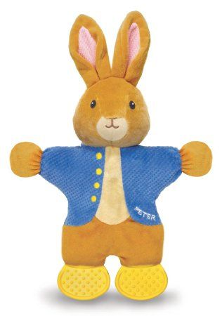 Amazon.com: Kids Preferred Peter Rabbit Teether Toy, The World of Beatrix Potter: Baby