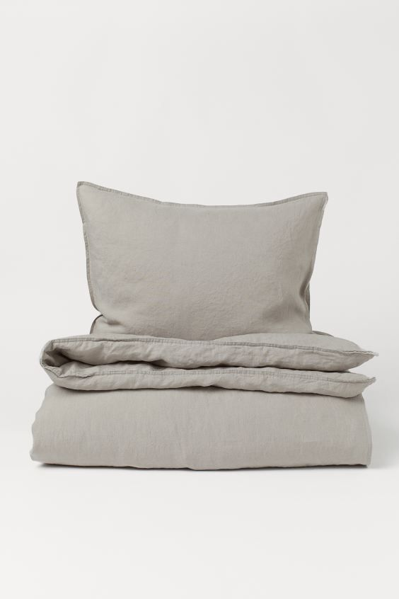 Washed Linen Duvet Cover Set Taupe Home All H M Us Duvet Cover Sets Washed Linen Duvet Cover Linen Duvet