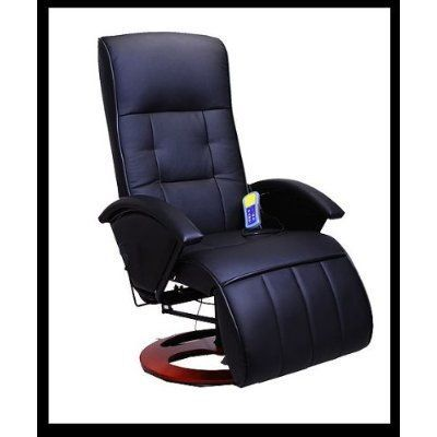 AOSOM i3237 Black Office TV Recliner Massage Chair by Aosom. $182.97. This chair offers a great ergonomic design and can be added as a great complement to any room in your house. The Recliner massage chair brings a striking elegance to accent any room in the home or office. The fine craftsmanship and 360 degree swivel base make this recliner a real show piece. This beautiful massage chair comes with aremote control and a 90-day warranty. 9 pre-programmed Massage modes an...