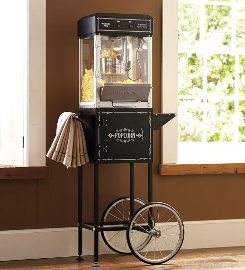 theater room popcorn machines | Exotic Excess - Professional Popcorn Maker & Trolley