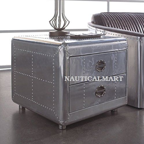 Aviator Square Coffee Table With 2 Drawer Nauticalmart Https Www