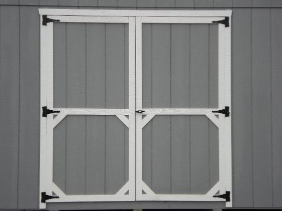 Diy shed door out of plywood google search pump house for Shed door ideas