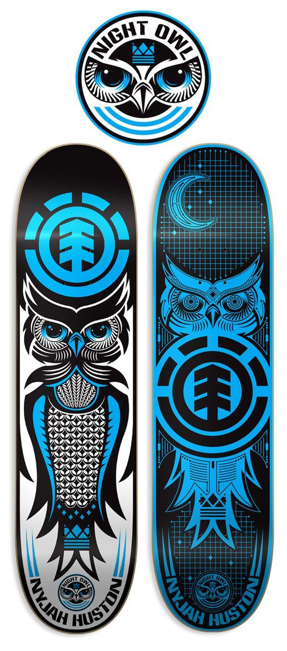 Element skateboards by dan janssen via behance s k a - Skateboard dessin ...