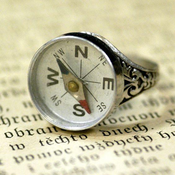 Compass Ring. $18.00, via Etsy.