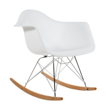 Sedia a Dondolo Charles Eames RAR di Plastica - Bianca