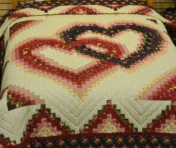 Bargello Linking Hearts Quilt Pattern Linking Hearts