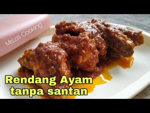 Rendang Ayam Tanpa Santan Youtube Healthy Recipes Food Meals