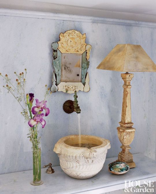Why Stone Sink In Water : ... stone. The faucet and stone sink are antique ~ John Saladino design