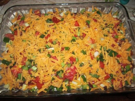 my many layer salad