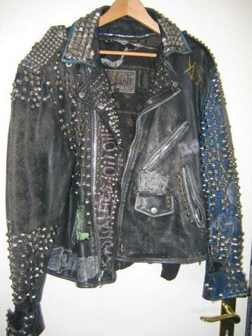 punk rock leather jacket in Clothing Shoes &amp Accessories Vintage