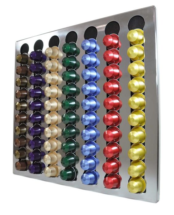 Details about new nespresso coffee capsules 70 pods wall holder dispenser sta - Nespresso distributeur capsules ...
