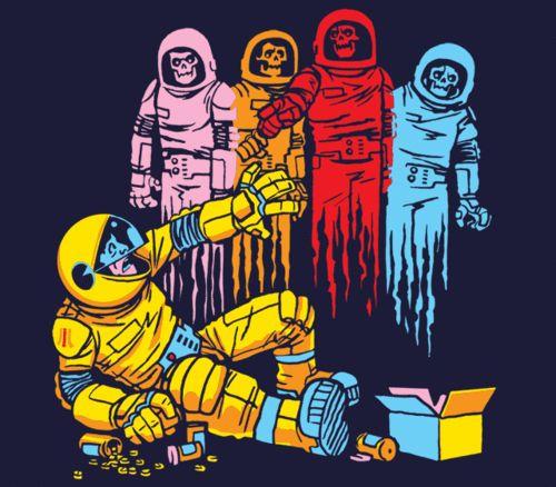 Pac Man by http://blahmushyblah.tumblr.com/post/68700759299/space-ghostsunder-the-influence